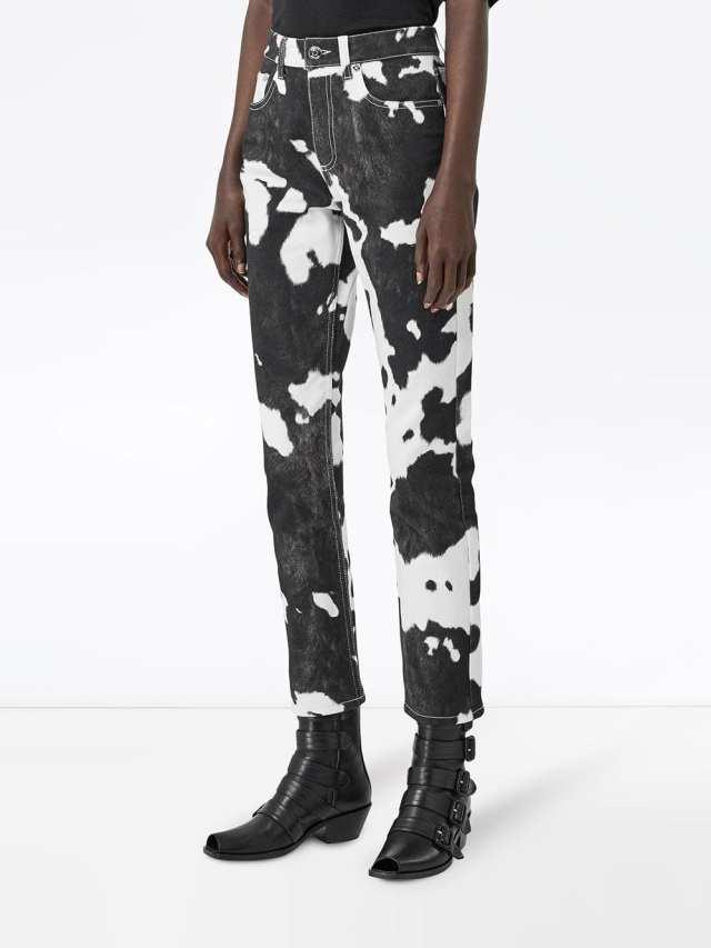 Pantalones Burberry Con Estampado De Vaca