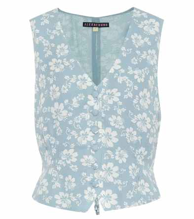 alexa chung flower vest little women