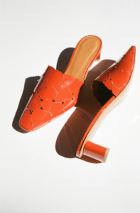 Emilia slide paprika patent orange mules from LOQ