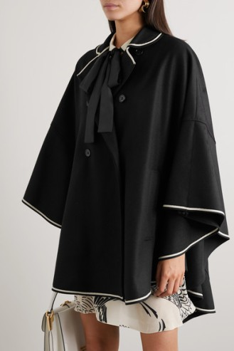 valentino black cape with bow
