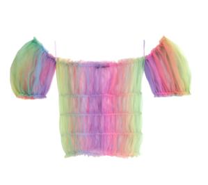 Top de tul de colores de Lirika Matoshi